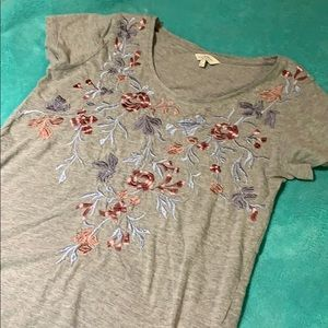 Lucky Brand Tops - Lucky Brand embroidered tee